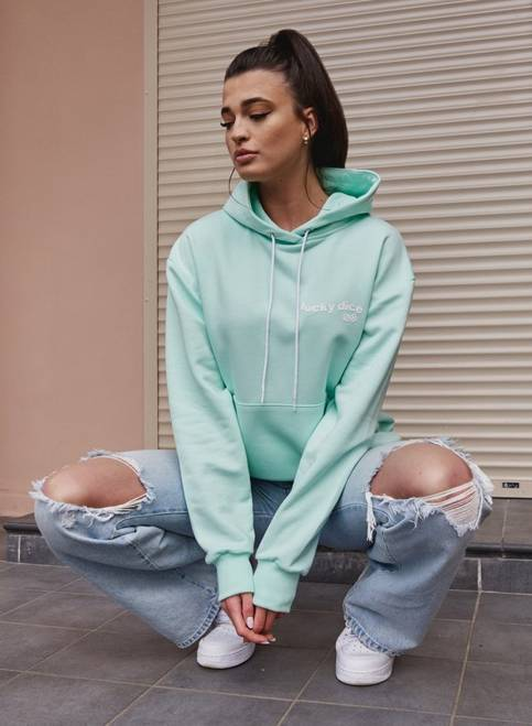 BLUZA HOODIE NEW BASIC GIRL (MINT)