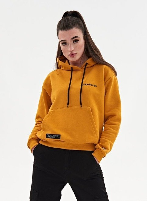 BLUZA HOODIE SMALL LOGO GIRL (HONEY)