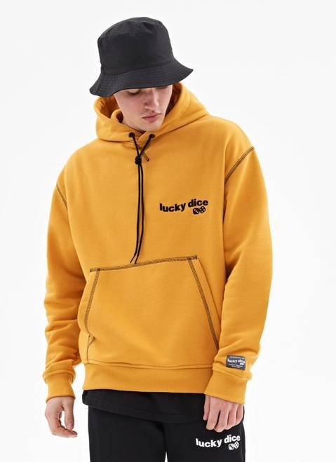 BLUZA HOODIE WAVE LOGO SEW COLOR (HONEY)