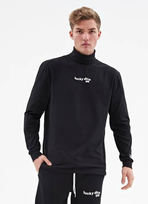 POLO NECK WAVE LOGO (BLACK)
