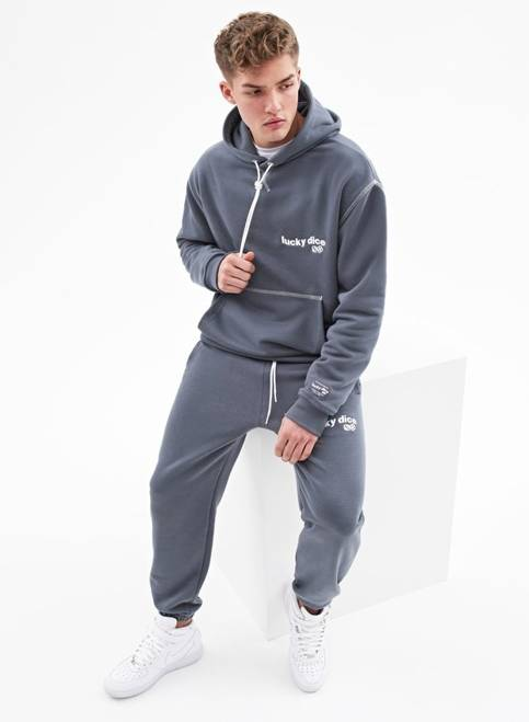 SWEATPANTS WAVE LOGO (DARK GREY)