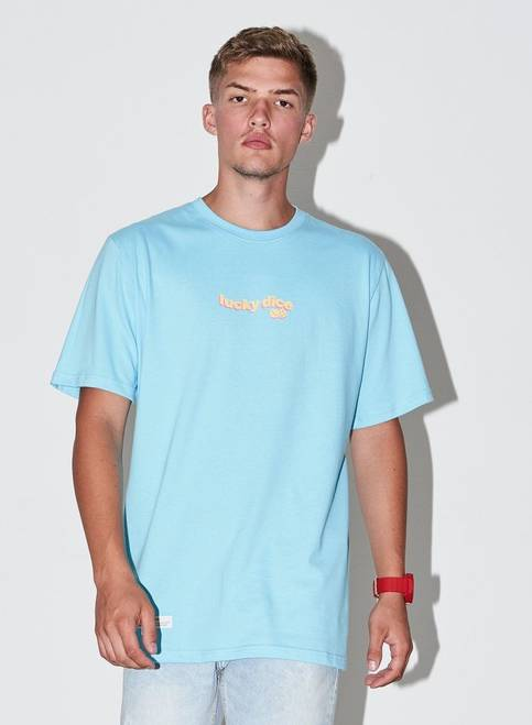 T-SHIRT WAVE LOGO COLOR (BLUE)