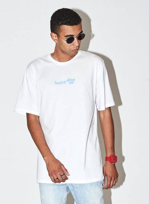 T-SHIRT WAVE LOGO COLOR (WHITE)
