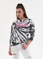 BLUZA CREWNECK TIE DICE GIRL (BLACK/WHITE)